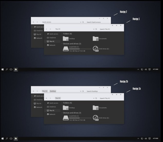 windows 10 dark themes