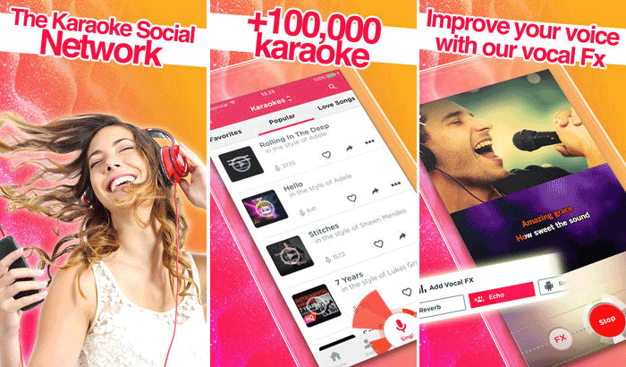 Red Karaoke Sing & Record iPhone and iPad app Screenshot