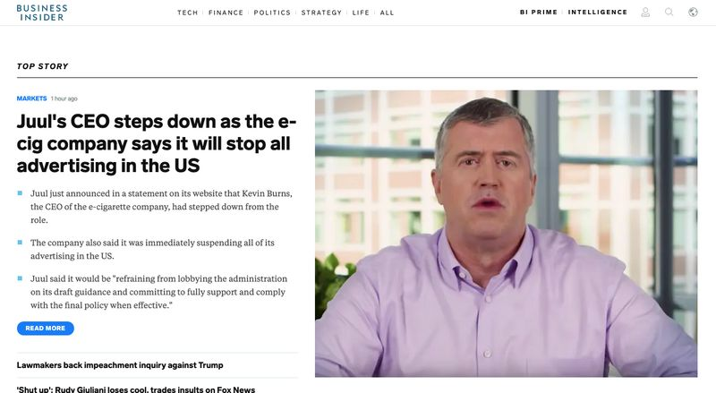 Business Insider website homepage