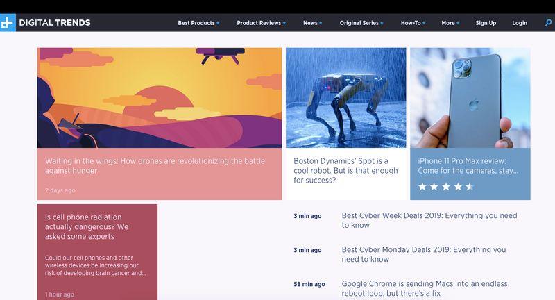 Digital Trends Homepage website