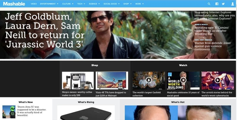 Mashable HomePage