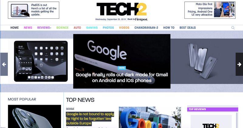 Tech 2 Websites
