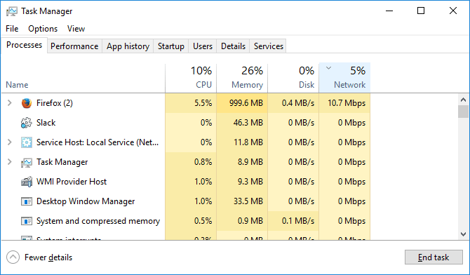 taskbar network windows 10
