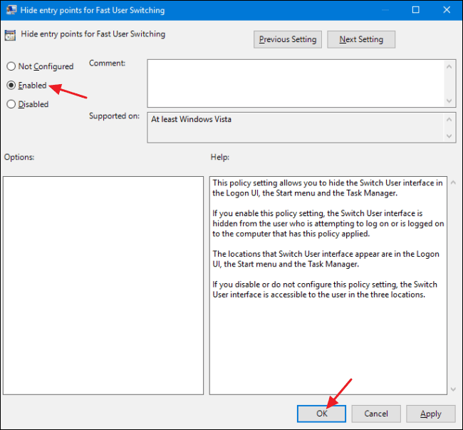 How to Disable Fast User Switching on Windows? 15