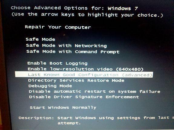 fix blue screen