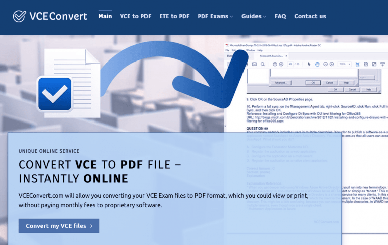 Best VCE to PDF Converter (Top RATED) in 2020