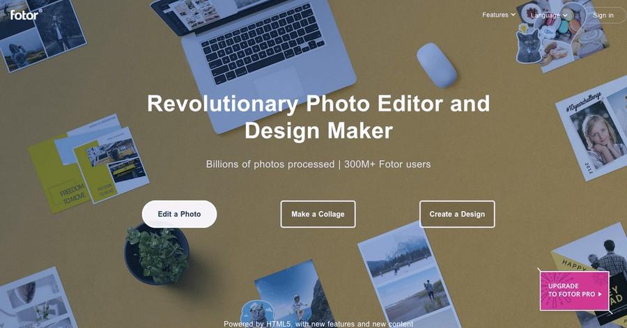Fotor Homepage