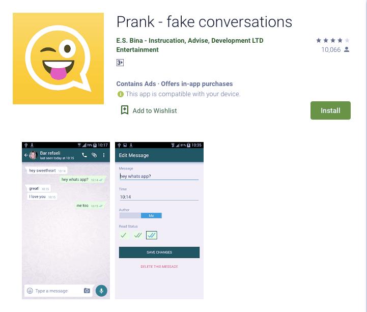 Prank Fake Apps