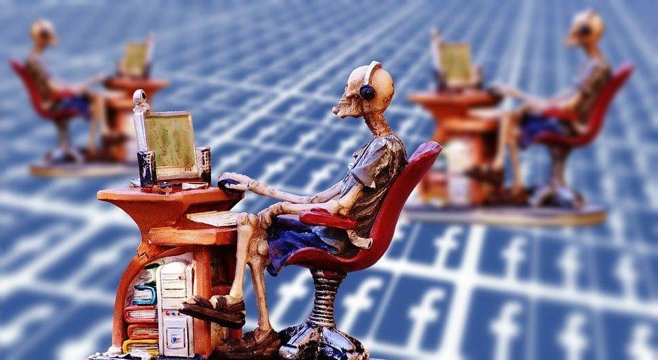 computer searches facebook