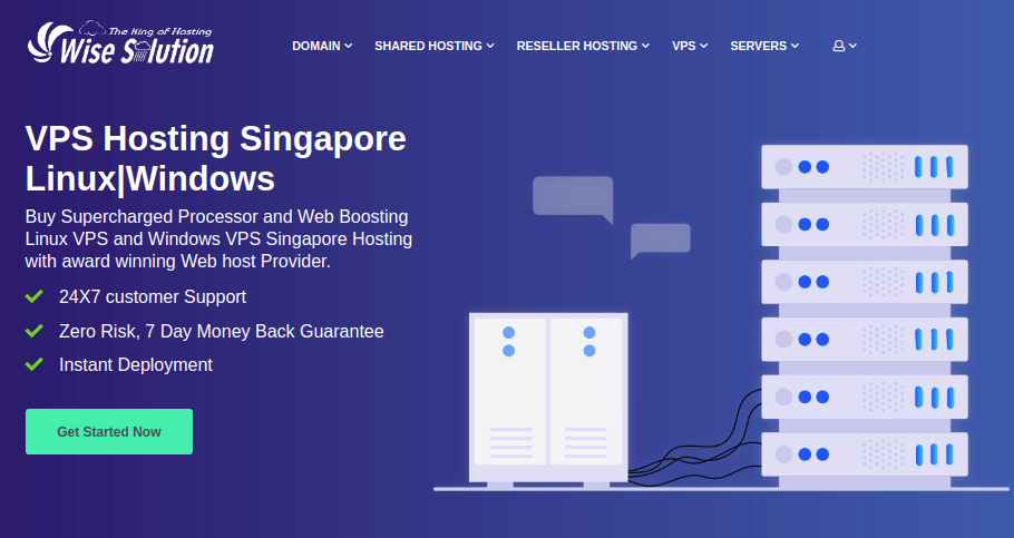 Choose Wisesolution for cheap VPS Singapore plan